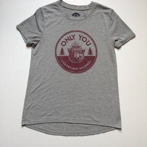 Smokey the Bear T-Shirt Women Size S